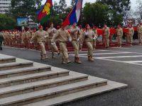 Участие юнармейцев в Параде, посвящённому Дню защитника Отечества, 2020 год